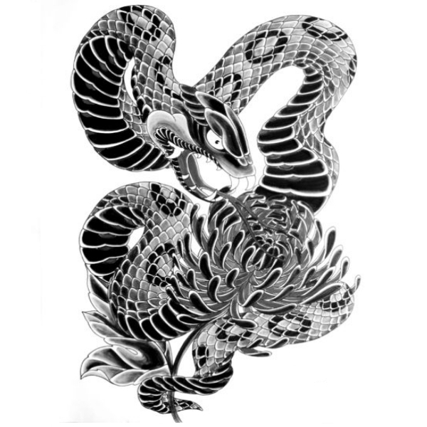 Wzór Tatuażu Wąż